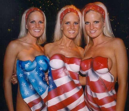 Body Painting - America Flag