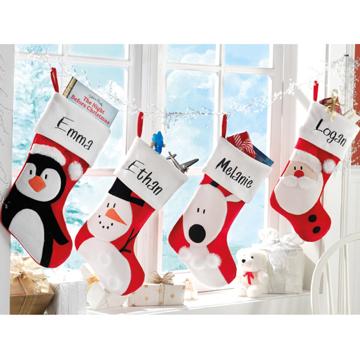 Calcetines para los regalos de santa angel o demonio - Calcetines de navidad personalizados ...
