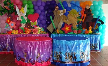 Fiestas infantiles angel o demonio for Decoracion fiesta infantil nina